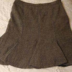 LOFT Ann Taylor gray wool skirt sz 14